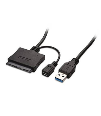 """Cable Matters USB 3.0 to SATA III 2.5"""" Hard Drive Adapter with Optional USB Power"""