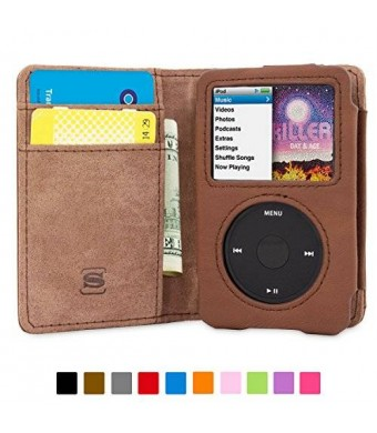Snugg™ iPod Classic Flip Case and Lifetime Guarantee (Brown Leather) for iPod Classic