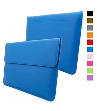 Snugg Macbook 12 Inch Case - Leather Sleeve Case with Lifetime Guarantee (Electric Blue) for Apple MacBook 12 with Retina