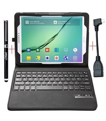 Samsung Galaxy Tab S2 9.7 Keyboard case - IVSOUltra-Thin High Quality DETACHABLE Bluetooth Keyboard Stand Case