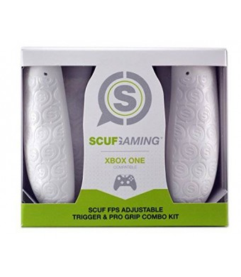 Scuf Gaming SCUF FPS Adjustable Trigger and Pro Grip Combo Kit - Xbox One Compatible (White)