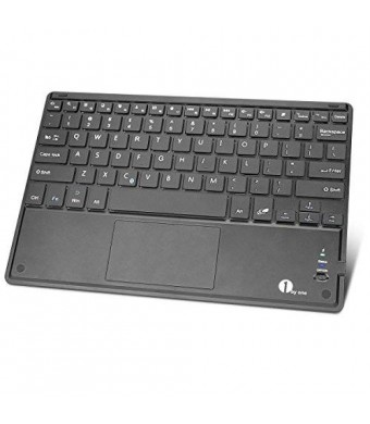 1byone Wireless Bluetooth Keyboard with Multi Touchpad, Touch Keyboard for Windows, Linux / Android OS Tablet PC/ Galaxy Tabsand Smart Phone