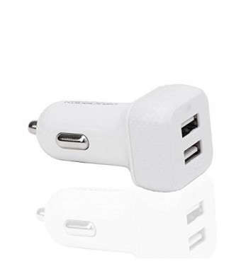 KabelDirekt 4.8A / 24W 2 Port High Speed Car Charger with IDD Technology (Intelligent Device Detection) for Apple