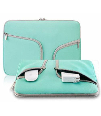"Steklo - HOT TEAL Neoprene Soft Sleeve Case for MacBook 12-inch and MacBook Air 11.6"" and Laptop up to 12"" Ultrabook"
