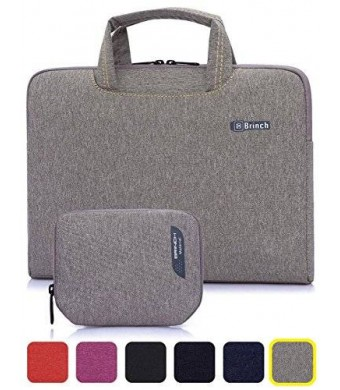 BRINCH(TM) BRINCH [Grey] Deluxe Universal Fabric Portable thin Light Durable Waterproof Anti-tear 15 - 15.6 inch Laptop Pouch Sleeve Case Bag