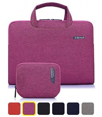 BRINCH(TM) BRINCH [Purple] Deluxe Universal Fabric Portable thin Light Durable Waterproof Anti-tear 13 - 13.3 inch Laptop Pouch Sleeve Case Bag
