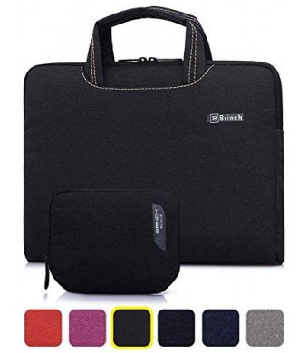 BRINCH(TM) BRINCH [Black] Deluxe Universal Fabric Portable thin Light Durable Waterproof Anti-tear 14 - 14.4 inch Laptop Pouch Sleeve Case Bag