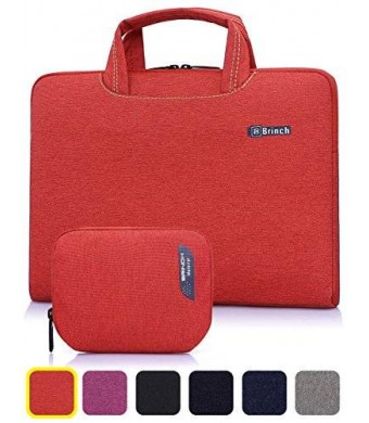 BRINCH(TM) BRINCH [Red] Deluxe Universal Fabric Portable thin Light Durable Waterproof Anti-tear 14 - 14.4 inch Laptop Pouch Sleeve Case Bag