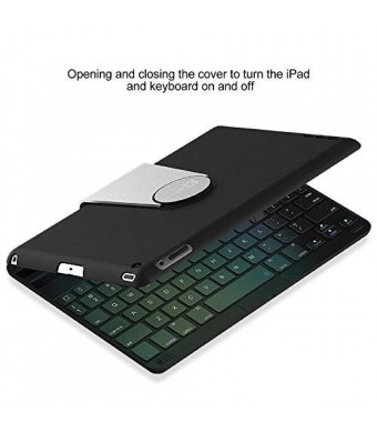 iPad Keyboard, JETech Wireless Bluetooth Keyboard Case for Apple iPad 2/3/4 with 360 Degree Rotation and Multi-Angel Stand
