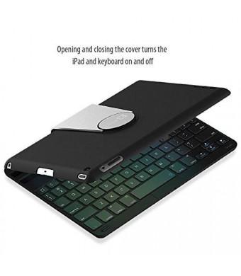 iPad Mini Keyboard, JETech Wireless Bluetooth Keyboard Case for Apple iPad Mini 1/2/3 with 360 Degree Rotation and Multi-Angle Stand