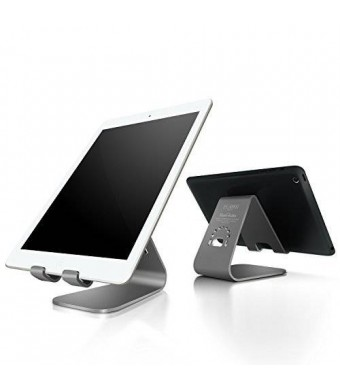 iPad dock, Spinido TI-APEX Series Magnesium-aluminium Alloy Tablet iPad Stand With All iPad and Samsung Galaxy Tab (Space Grey)