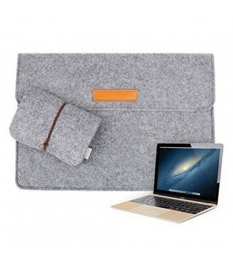 "Inateck 12 Inch New MacBook Sleeve Case Cover Bag Laptop Notebook Carrying Case for 2015 Release Apple New Macbook 12"" with Retina Display, Gray"