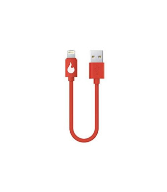 Johnny Gadgetseed Fire Extinguisher Cable - 6 Inch [Apple MFi Certified] Lightning to USB on the go cable for iPhone 6 / iPhone 6 plus