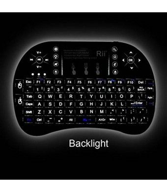 2015 Rii i8+ 2.4GHz Mini Wireless KODI XBMC Keyboard with Touchpad Mouse