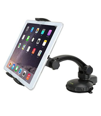 Tablet Car Mount - iKross Universal Car Dashboard Mount Holder Kit with Strong Gel Pad Suction Holder For iPad Pro 9.7, iPad Air 2, iPad Mini 4, Samsung Galaxy Tabs, Asus Tablets and More - Black