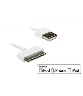 [Apple MFi Certified] HomeSpot 6.6 feet (2 meters) Extra Long 30 Pin compatible USB Cable