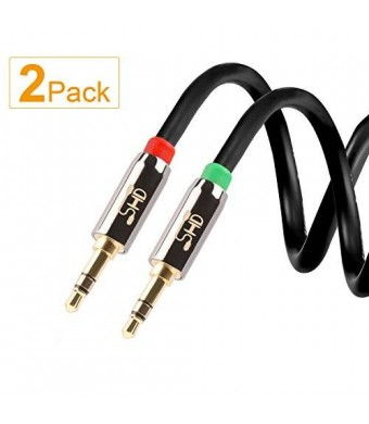 Super High-Definition Super HD 3.5mm Aux Stereo Audio Cable Tangle-Free Slim Cable Male Type Compatible for Car