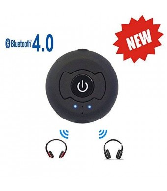 New eranton Portable Bluetooth 4.0 A2dp Audio srereo Transmitter Support Two Devices Simultaneously for Tv Pc Cd Player Ipod Kindle Fire Mp3/mp4 Etc