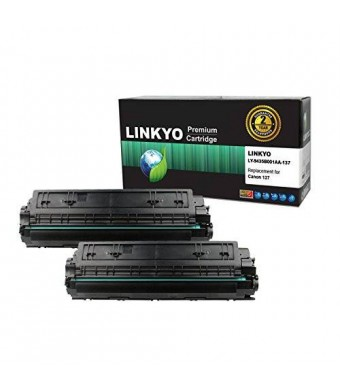 LINKYO Compatible Toner Cartridge Replacement for Canon 137 9435B001AA (Black, 2-Pack)