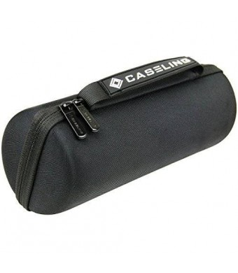 Caseling for JBL Charge 2 Speaker Wireless Bluetooth Portable Hard Carrying Case Travel Bag. - Fits Plug and Cables.