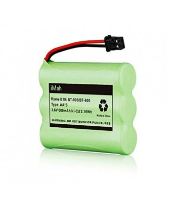 1-Pack iMah Ryme B10 BT-905 BT-800 Nickel-Cadmium Rechargeable Cordless Phone Battery for Uniden BT905 BBTY0663001 BBTY-0444001 BBTY-0449001