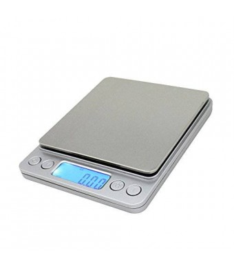 Spirit 0.01oz/0.1g 3000g Digital Pro Pocket Scale with Back-Lit LCD Display Silver