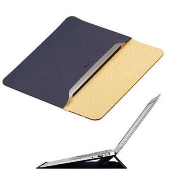 Macbook Air 13 inch Case Sleeve with Stand, OMOTON Wallet Sleeve Case for Macbook Air 13 inch, Ultrathin Carrying Bag with Stand, Navy Blue