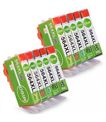 OSIR Ink Cartridge 564XL 564 for HP Photosmart C309 C310 C410 D5460 3520 5520 6510 6520 7510 7520 Printer(2xBlack