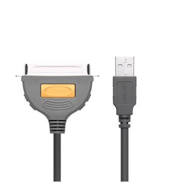 Ugreen USB to IEEE1284 CN36 Parallel Printer Adapter Cable for Printer, Injekt, Laser etc, 10ft/3m