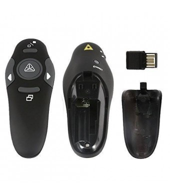 Restar AL0005 RF 2.4GHz Wireless USB PowerPoint PPT Presenter Remote Control Laser Flip Pen[LIFETIME WARRANTY]