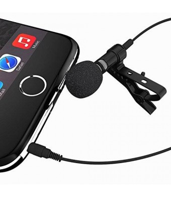 Miracle Sound Deluxe Lavalier Lapel Clip-on Omnidirectional Condenser Microphone for Apple Iphone, Ipad, Ipod Touch, Android and Windows Smartphones