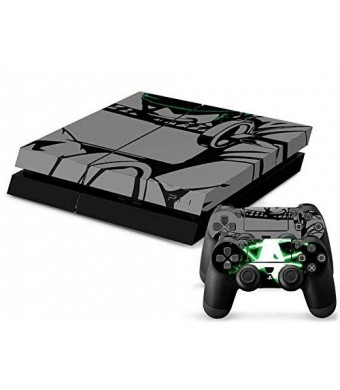 Mod Freakz ModFreakz PlayStation 4 Vinyl Console and Free PS4 Controller Skin - Ninja Green Sword