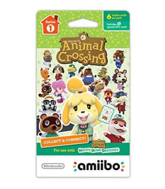 Nintendo Animal Crossing Series 1 Single Pack of 6 Cards