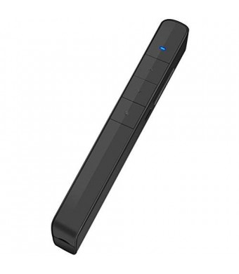 Dinofire Wireless Presenter with Green Light, Rechargable PowerPoint Clicker Presentation Remote, Support Hyperlink