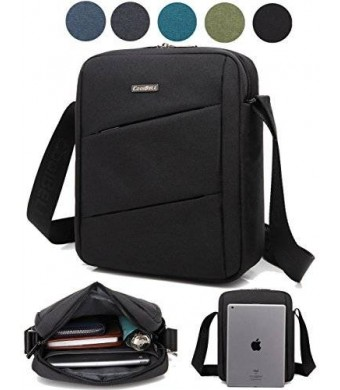 CoolBell(TM) MacBook Shoulder Messenger Carrying Bag Case With Handle Shoulder Strap Zipper for iPad Air2