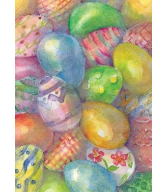 Toland Home Garden Easter Eggs 12.5 x 18-Inch Decorative USA-Produced Garden Flag