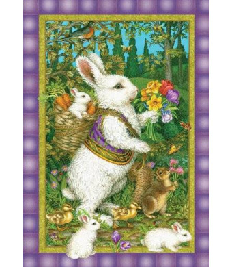 Toland Home Garden Classic Bunny 12.5 x 18-Inch Decorative USA-Produced Garden Flag