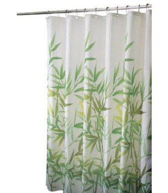 InterDesign Anzu Fabric Shower Curtain, Green, 72 x 72-Inch