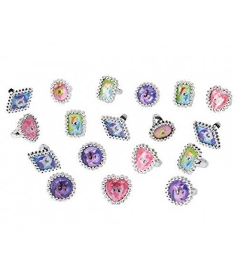 American Greetings My Little Pony Jewel Rings, 18 Count, Party Supplies, Multicolored