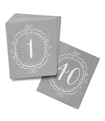 Hortense B. Hewitt Wedding Accessories Charming Vintage Table Cards, Numbers 1 to 40