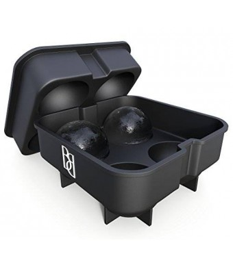 Bar Brat Premium Ice Ball Maker Mold | Keep Drinks Colder Longer Than Ice Cubes | The Perfect Bar Accessory Gift | Forget Silicone Ice Cube Trays