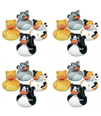 Fun Express Vinyl Cat Rubber Duckies (1 Dozen)