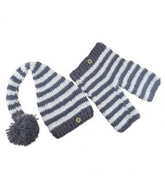 Jastore Photography Prop Baby Cute Stripe Crochet Knitted Costume Hat Pants
