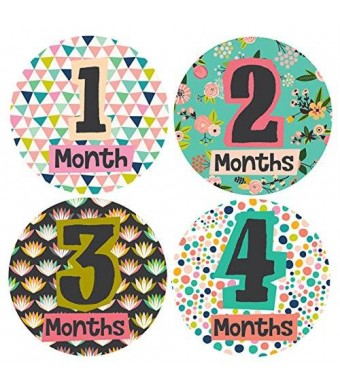 Lucy Darling Little Lady Monthly Stickers - Baby Girl - Months 1-12