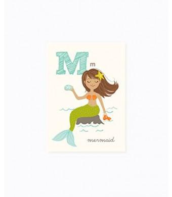 Sea Urchin Studio ABC Wall Art for Kids, M/Mermaid