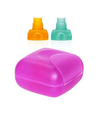 ChooMee Travel Case | Purple + 2 Sip'n Soft Tops | Orange Aqua