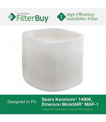 FilterBuy 14906 Sears Kenmore Humidifier Wick Filter. Fits humidifier model numbers 14410