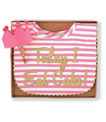 Mud Pie Baby-Girls Newborn Cake Smashing Set-Bib and Crown Headband