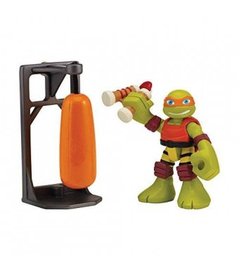 Teenage Mutant Ninja Turtles Pre-Cool Half Shell Heroes Dojo Michelangelo with Training Bag Action Figure
