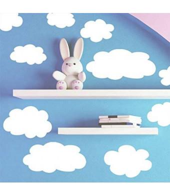 Create-A-Mural Fluffy Cloud Wall Decals -Baby Nursery Room Wall Decor